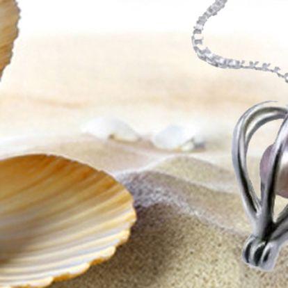 Perla přání s náhrdelníkem – výjimečný dárek, který Vám splní přání! Perla je ukrytá v perlorodce, kterou sami otevřete. Exkluzivní dárek pro partnerku nebo kamarádku! Skvělá cena!
