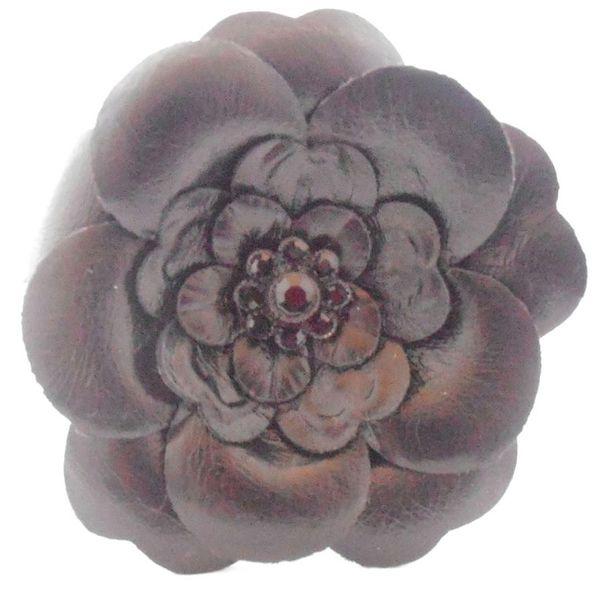 Brož Dainty Damsel WALSH šedá květina
