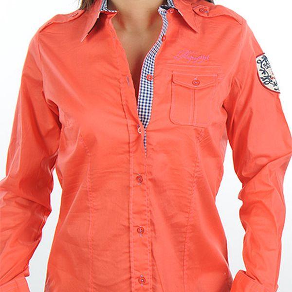 Dámská oranžovo-červená košile