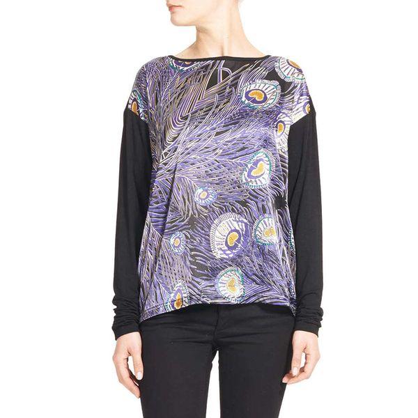 Dámské triko Valour & Valkyrie FEATHER černé barevný vzor