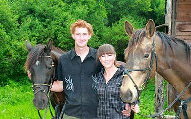60minutová jízda na koni na Farmě Bojov se slevou 50 %!
