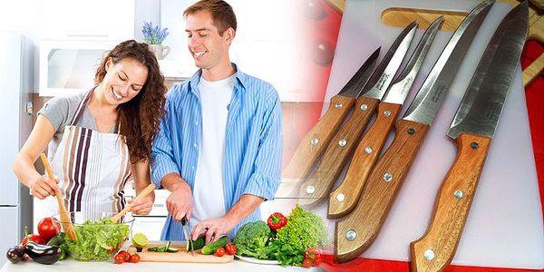 Sada ocelových nožů – 72% sleva