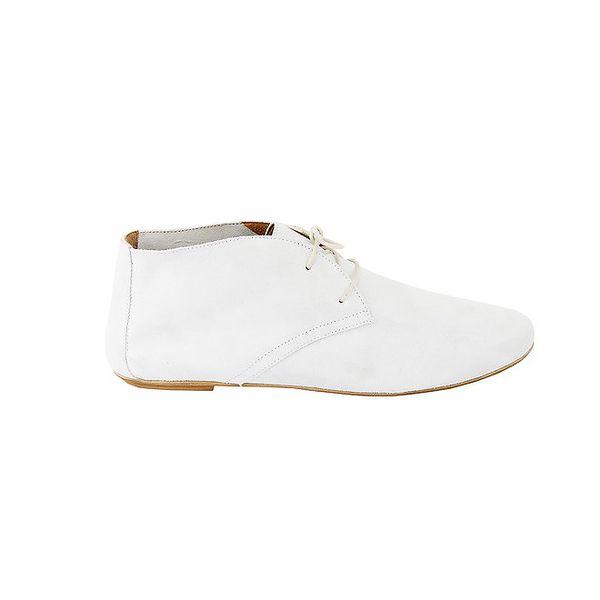 Dámské bílé semišové kotníčkové boty Eye