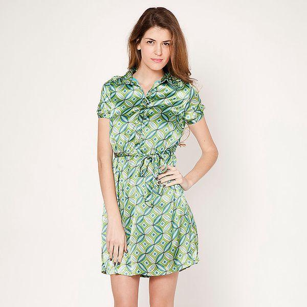 Dámské zelené šaty s límečkem Tantra