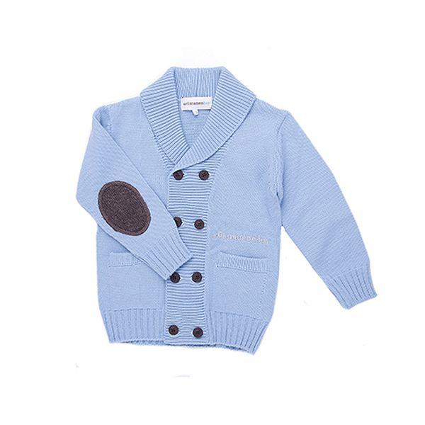 Modrý chlapecký svetr dvouřadý