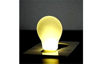 LED světlo do kapsy o velikosti kreditní karty a poštovné ZDARMA! - 190