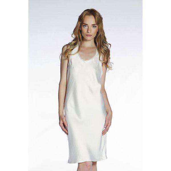 Dámské bílé hedvábné šaty Gene