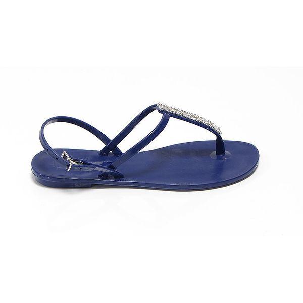 Dámské fialové sandálky se štrasovou sponou Favolla