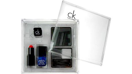 Calvin Klein Modern Collection Cool dárková sada W - 4g Duo Eyeshadow + 13ml Nail Enamel + 3,5g Lipstick