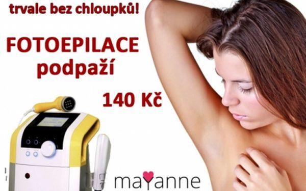 IPL - FOTOEPILACE obou PODPAŽÍ za báječných 140 Kč v salonu MAYANNE. Zbavte se chloupků bezbolestně, rychle a bezpečně..