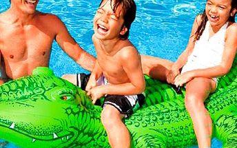 Nafukovací lehátko ve tvaru krokodýla. Letní čas vodních radovánek se kvapem blíží! Krokodýla z kvalitního vinylu snadno nafouknete a uchopíte za madla na hřbetu! Pro malé i velké!