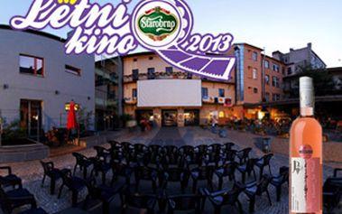 DVĚ vstupenky do letního kina na dvoře MdB a láhev skvělého vína Frankovka Rosé - pozdní sběr 2011.