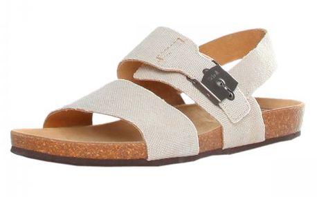 Pohodlné dámské plátěné sandály Scholl Ruk_245711062, bílá