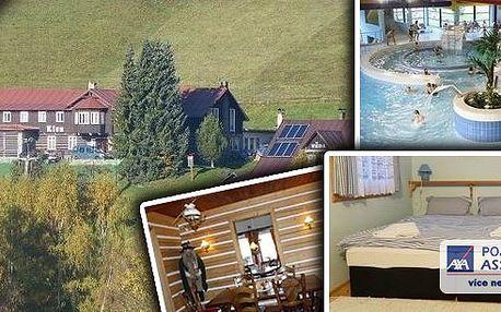 Užijte si báječnou dovolenou v Krkonoších – pobyt na 4 dny pro 2 osoby v penzionu Lion s polopenzí, kulečníkem a sportovním vyžitím