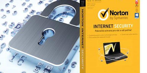 Roční licence Norton Internet Security 2013 CZ pro jeden PC
