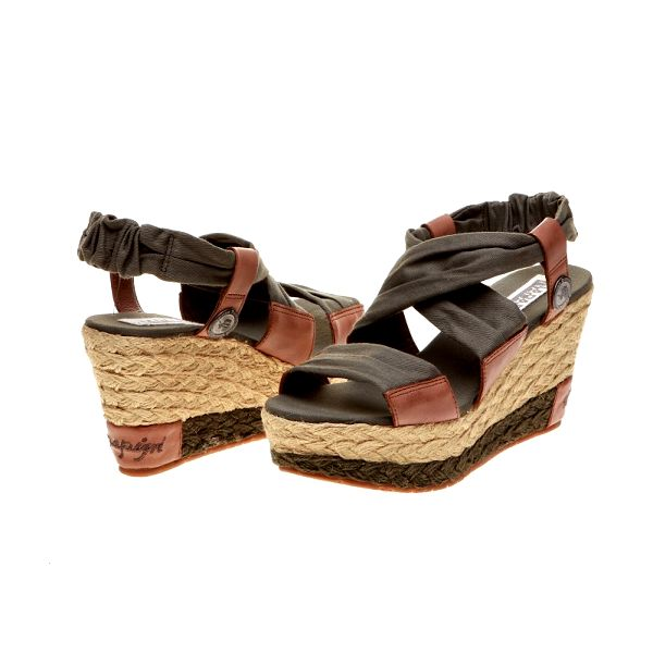 Stylové dámské sandály Napapijri 676270_070, khaki