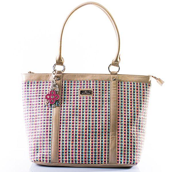Béžová vyplétaná taška
