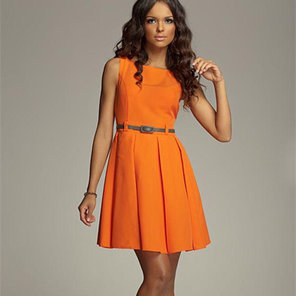 Pomerančové šaty