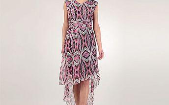 Růžové šaty Nora