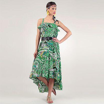 Zelené šaty Caroline