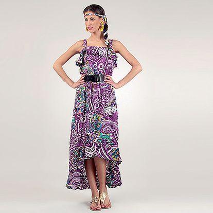Fialové šaty Caroline