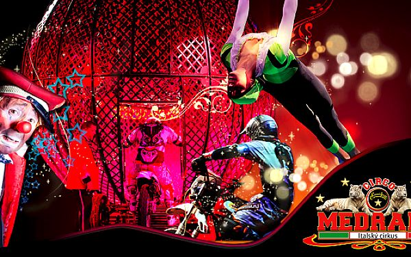 Vstupenka na Italský cirkus Medrano v Mladé Boleslavi v pondělí 15.7.2013