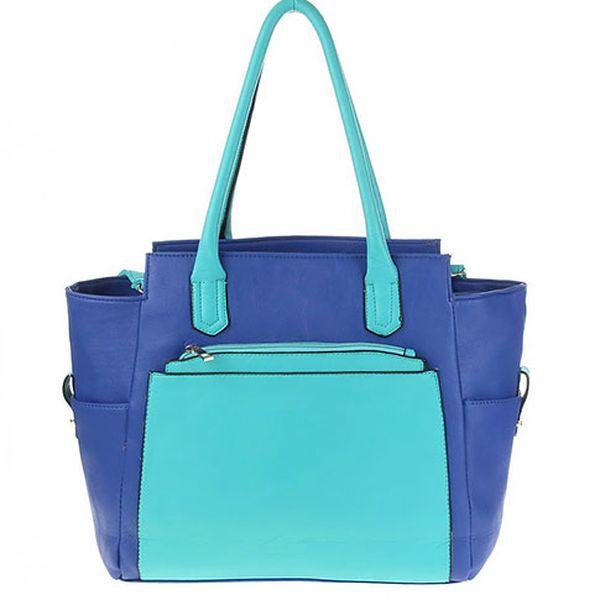 Modro-tyrkysová kabelka