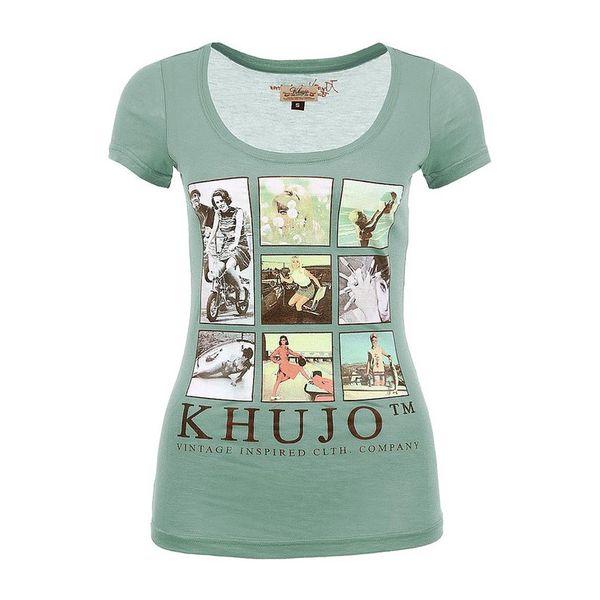 Dámské triko Khujo zelené obrázek