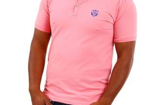 Pánské polo triko Selected Aro růžové