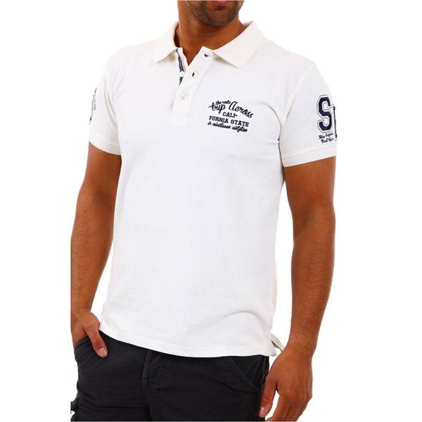 Pánské polo triko Shine bílé