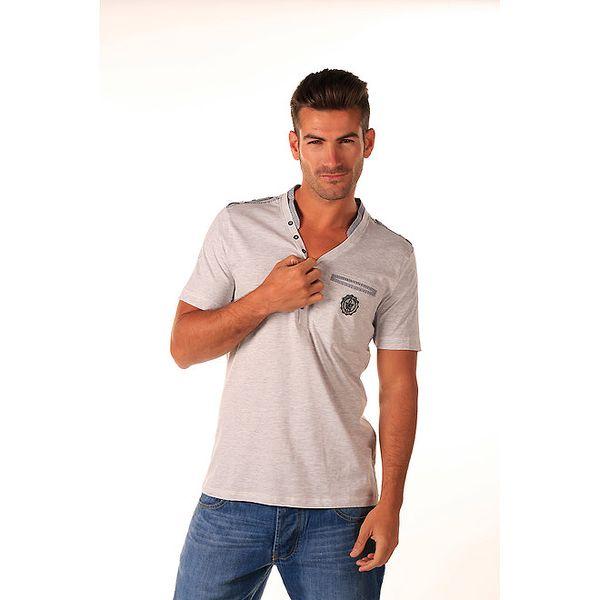 Pánské šedé bavlněné tričko Celop