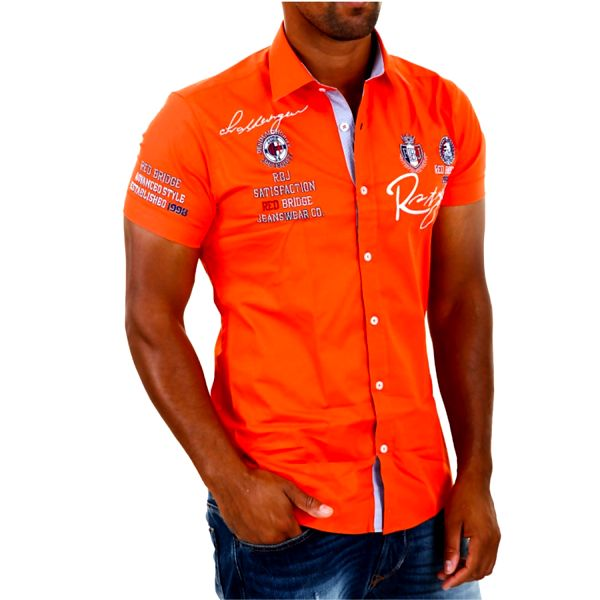 Pánská košile Redbridge korálová