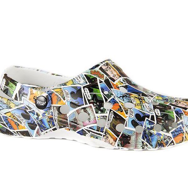 Barevné komiksové pantofle Woz?