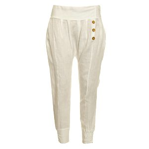 Dámské bílé lněné kalhoty Puro Lino