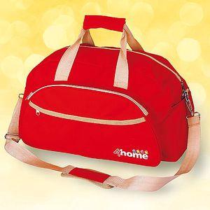 Cestovní taška; červená - s odnímatelným popruhem přes rameno