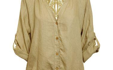 Dámská béžová lněná košile Puro Lino