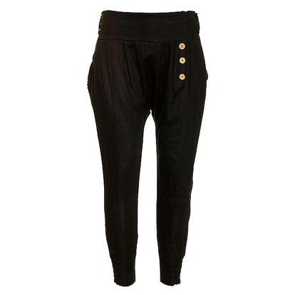 Dámské černé lněné kalhoty Puro Lino