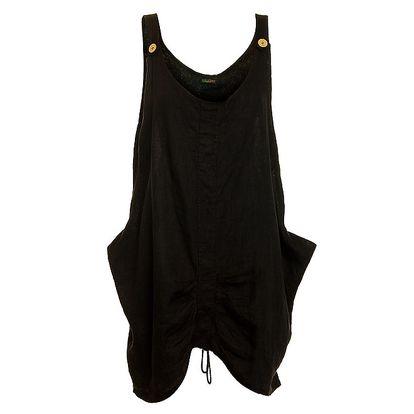 Dámské černé lněné šaty Puro Lino