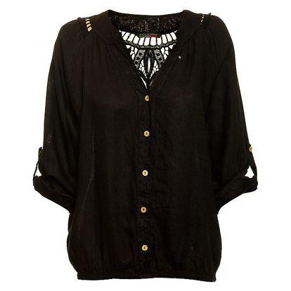 Dámská černá lněná košile Puro Lino