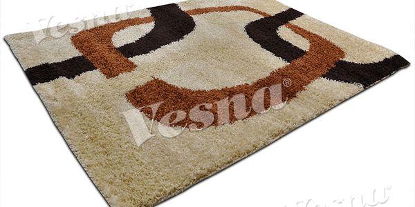Moderní kusový koberec s hustým vysokým vlasem