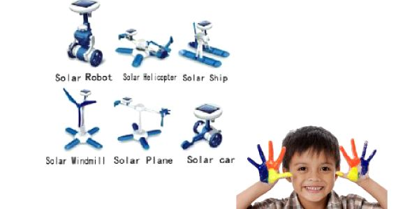 Nová solární stavebnice SolarKit 6v1 za úžasně nízkou cenu 119 Kč! Stavebnice využívá solární energii a hraní s ní jen tak neomrzí!