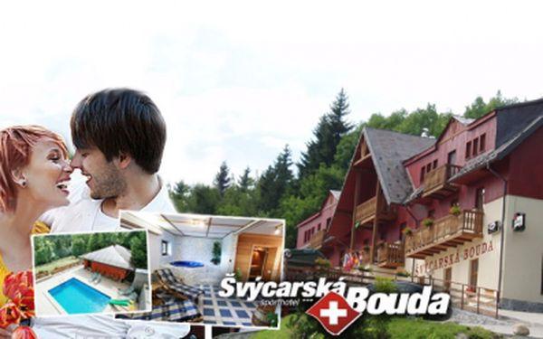 Krásný hotel Švýcarská bouda***+ ve Špindlu nabízí 3 DNY PRO DVA s POLOPENZÍ a privátním WELLNESS! Neomezené využití vyhřívaného BAZÉNU a víceúčelového HŘIŠTĚ s překrásným výhledem na hřebeny Krkonoš! Sleva 51%!