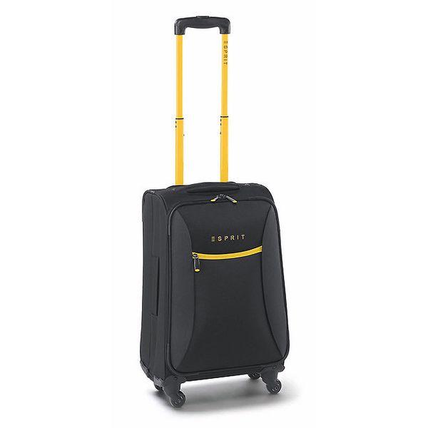 Černo-žlutý malý kufr na kolečkách Esprit