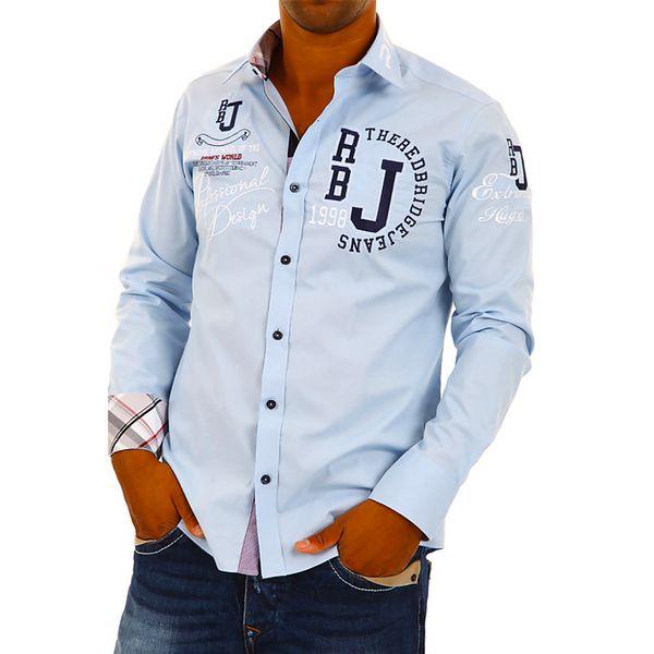 Pánská košile Redbridge světle modrá