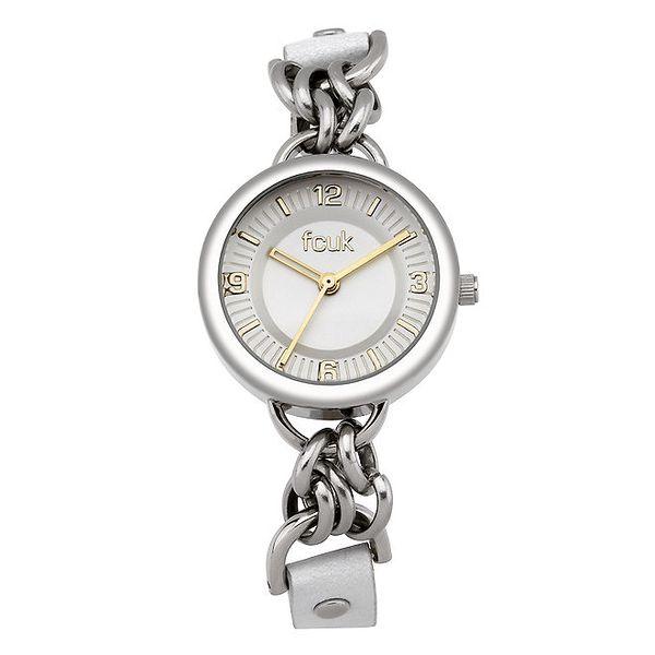 Dámské stříbrné hodinky s originálním řemínkem French Connection