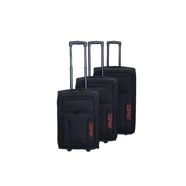Set tří černých kufrů na kolečkách Esprit