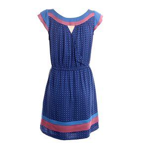 Dámské modro-růžové šaty s jemným vzorkem 2two