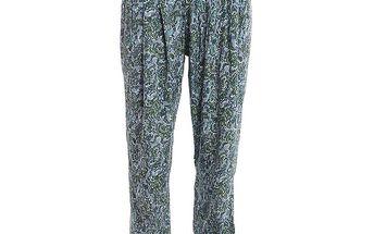 Dámské lehké kalhoty s modrým vzorem 2two