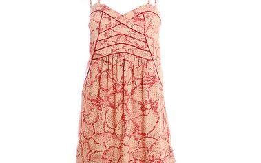 Dámské paprikovo-meruňkové šaty s potiskem 2two