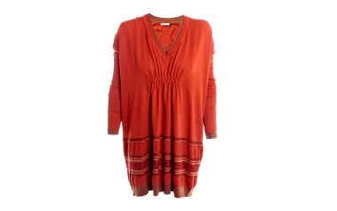 Dámské paprikově oranžové tunikové šaty 2two